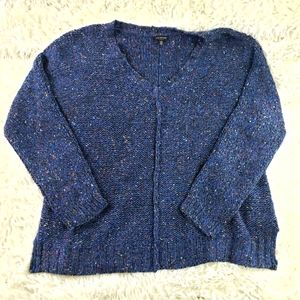Lucky Brand Blue Knit Pull Over Sweater sz large